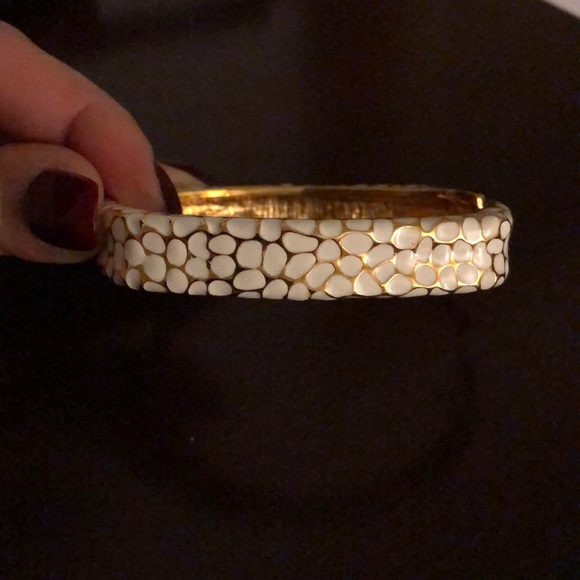 Jewelry - White and gold bangle